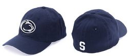 Penn State Fitted Hat Navy Block S Back