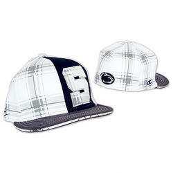 Penn State Flat Brim Plaid Fitted Hat Block S Nittany Lions (PSU)