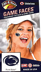 Penn State Game Faces Tattoos - Lion Paws Nittany Lions (PSU) 748532530076