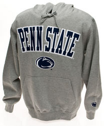 Penn State Hooded Embroidered Sweatshirt Arching Over Lion Gray Nittany Lions (PSU)