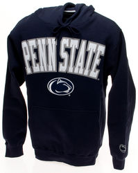 Penn State Hooded Embroidered Sweatshirt Arching Over Lion Navy Nittany Lions (PSU)