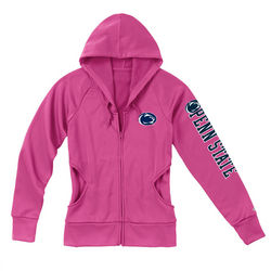 Penn State Juniors Performance Zip Up Sweatshirt Pink Lion Head