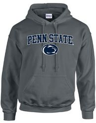 Penn State Kids Hooded Sweatshirt Charcoal Heather