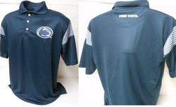 Penn State Mens Polo Shirt Navy With Checkerboard Inserts Nittany Lions (PSU)
