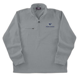 Penn State Microfiber Fleece 1/4 Zip Sweatshirt Gray