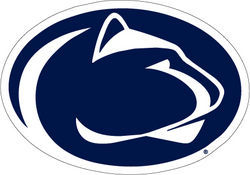 Penn State Navy & White Lion Head Decal 6 Inch