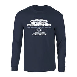Penn State Nittany Lions 2017 Wrestling National Champs Legacy Long Sleeve Shirt Navy Nittany Lions (PSU) P0007576