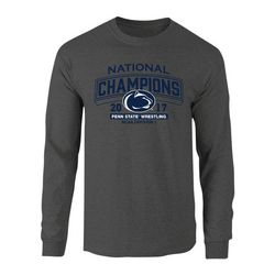 Penn State Nittany Lions 2017 Wrestling National Champs Long Sleeve Tshirt Charcoal Nittany Lions (PSU) P0007575