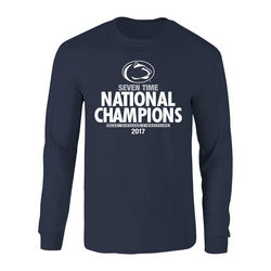 Penn State Nittany Lions 2017 Wrestling National Champs Long Sleeve Tshirt Navy Nittany Lions (PSU) P0007584