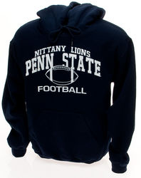 Penn State Nittany Lions Football Hooded Sweatshirt - Navy, Gray, or White Nittany Lions (PSU) 106PSU