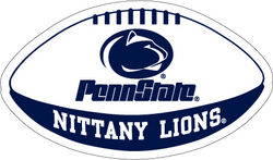 "Penn State Nittany Lions Football Magnet - 12"" Nittany Lions (PSU)"