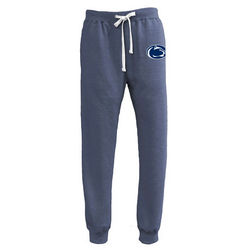 Penn State Nittany Lions Jogger Sweatpants Lion Head Heather Navy