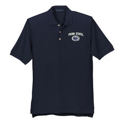 Penn State Nittany Lions Performance Tech Polo Navy Arch Over Nittany Lions (PSU)