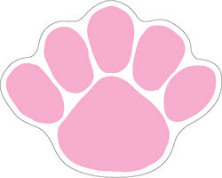 Penn State Paw Magnet Pink Nittany Lions (PSU)