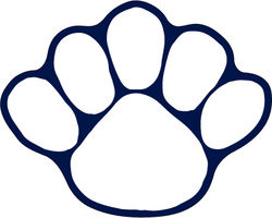 Penn State Paw Magnet White Nittany Lions (PSU)