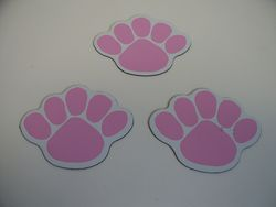 Penn State Paw Magnets 3 Pink