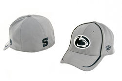 Penn State Performance Fitted Hat Gray With Navy Inserts Nittany Lions (PSU)