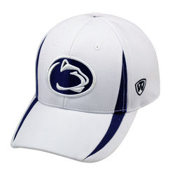 Penn State Performance Hat White With Navy Nittany Lions (PSU)