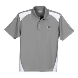 Penn State Performance Polo Shirt Gray With Inserts Lion Head Nittany Lions (PSU) 2613
