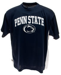 Penn State Performance T-Shirt Navy With White Inserts Arching Over Lionhead Nittany Lions (PSU)