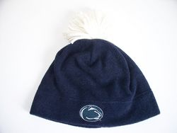 Penn State Polar Fleece Hat With White Tassel