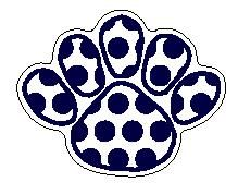 Penn State Polka Dot Paw Magnet - 6 X 8 Inch Nittany Lions (PSU)