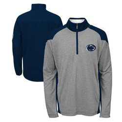 Penn State Quarter Zip Sweatshirt Performance Gray And Navy Nittany Lions (PSU) 808RD_62_PENN STATE_SET