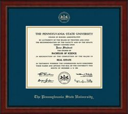 Penn State University Embossed Academy Diploma Frame Nittany Lions (PSU) DSCH-220454