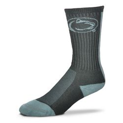 Penn State Vertical Striped Socks Gray Nittany Lions (PSU)