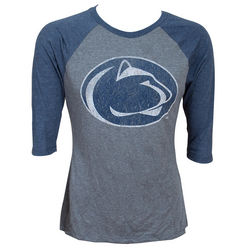 Penn State Vintage Tri Blend Long Sleeve Shirt Lion Head Nittany Lions (PSU)