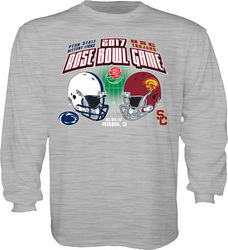 Penn State Vs USC Rose Bowl Kids Long Sleeve Shirt Gray Nittany Lions (PSU) RUMOR TOR16 2T-TOR16