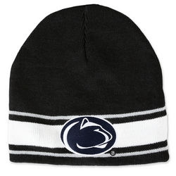 Penn State Winter Hat Black With White Trim Nittany Lions (PSU)