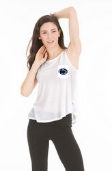 Penn State Women's Tank Top Cropped With Pocket White Nittany Lions (PSU)