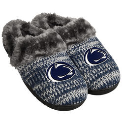 Penn State Womens Slippers Fleece Lined Nittany Lions (PSU) SLPWMNCPEAKPSE