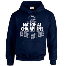 Penn State Wrestling 2016 Champions Hooded Sweatshirt Navy Banner Nittany Lions (PSU)