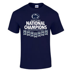 Penn State Wrestling 2016 Champs T Shirt Banner Navy Nittany Lions (PSU)