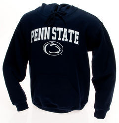 Penn State Youth Hooded Sweatshirt Arching Over Lion Head Navy