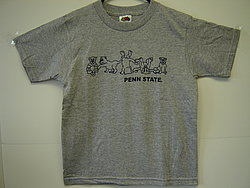 Penn State Youth T-Shirt Gray Tumbling Lions Nittany Lions (PSU)