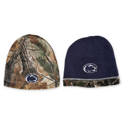 Real Tree Penn State Reversible Camo Winter Hat Navy Nittany Lions (PSU) (Real Tree)