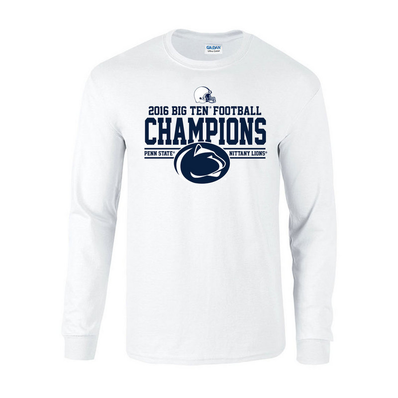 Penn State Football Big Ten Champs Long Sleeve Tshirt White 2016
