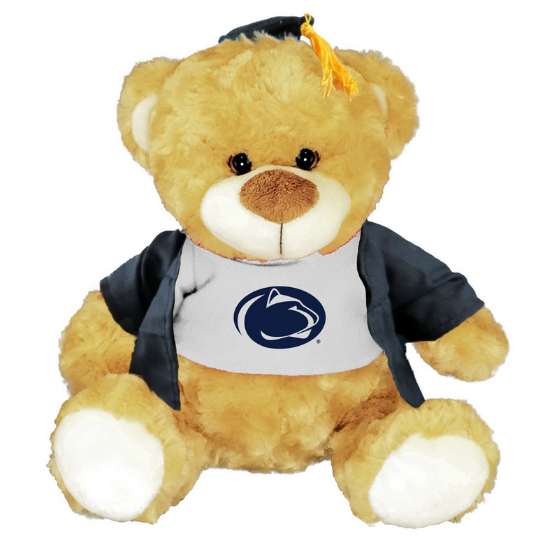 Penn State Graduation Bear with Cap and Gown