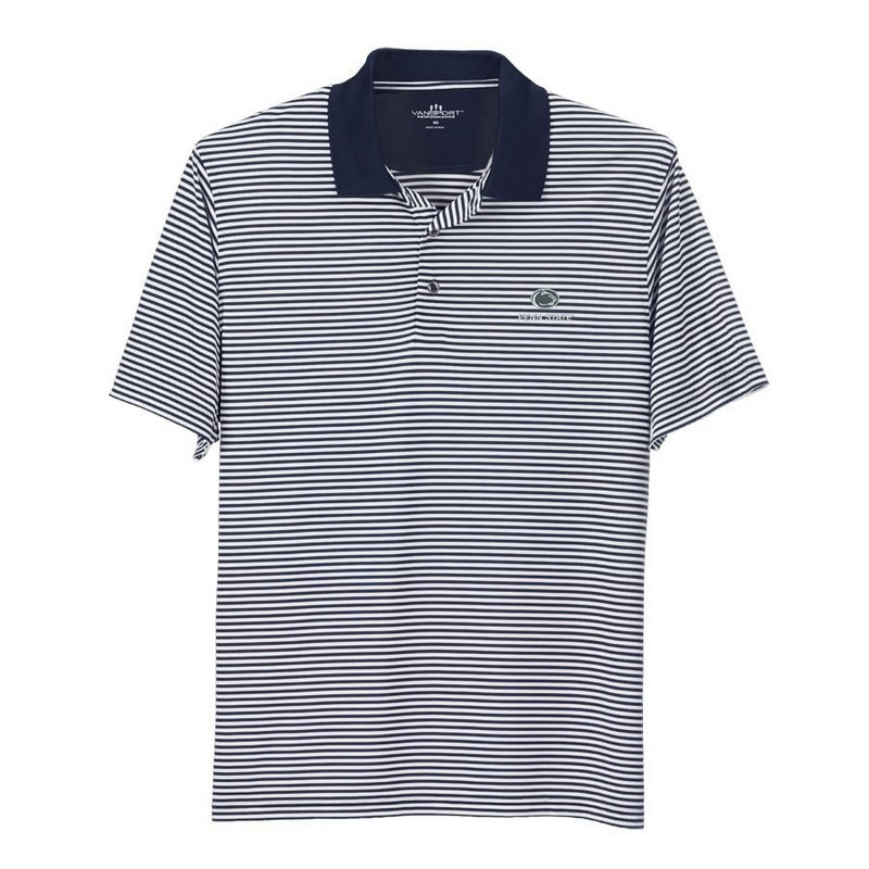 Penn State Performance Polo Shirt Striped Varsity