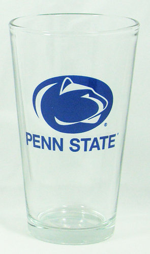Penn State Pint Glass 16 oz Varsity Logo