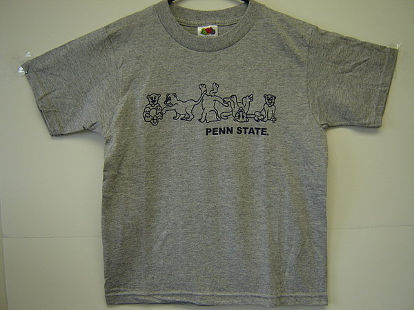 Penn State Youth T-Shirt Gray Tumbling Lions
