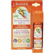 Badger SPF 35 Kids' Sport Sunscreen Face Stick 47203 (Badger)