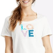 Life is good Women's Love Patterns Snuggle Up Sleep Tee 48840 (Life is good)