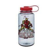 Nalgene Tritan 32oz Wide Mouth Water Bottle, Iron Man In Action 61052 (Nalgene)