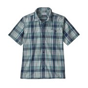 Patagonia Men's Puckerware Organic Cotton Button Up Plaid Shirt 53004 (Patagonia)